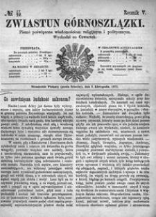 Zwiastun Górnoszlązki, 1872, R. 5, nr 45