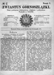 Zwiastun Górnoszlązki, 1872, R. 5, nr 47