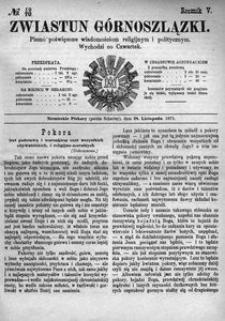 Zwiastun Górnoszlązki, 1872, R. 5, nr 48