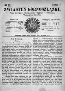 Zwiastun Górnoszlązki, 1872, R. 5, nr 49