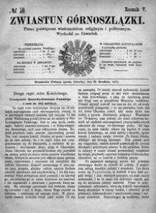 Zwiastun Górnoszlązki, 1872, R. 5, nr 50
