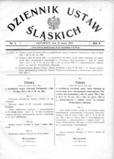 Dziennik Ustaw Śląskich, 26.03.1931, R. 10, nr 5
