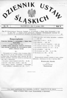 Dziennik Ustaw Śląskich, 02.06.1931, R. 10, nr 13