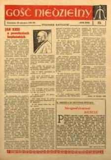 Gość Niedzielny, 1962, R. 31, nr 25