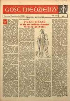 Gość Niedzielny, 1962, R. 31, nr 42