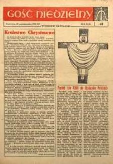 Gość Niedzielny, 1962, R. 31, nr 43