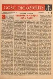 Gość Niedzielny, 1963, R. 36, nr 4