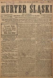 Kuryer Śląski, 1918, R. 10 [właśc. 12], nr1