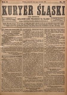 Kuryer Śląski, 1918, R. 10 [właśc. 12], nr77