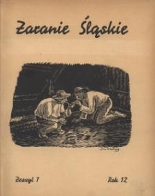 Zaranie Śląskie, 1936, R. 12, z. 1