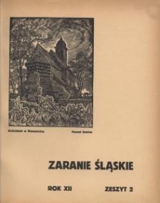 Zaranie Śląskie, 1936, R. 12, z. 2