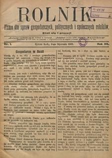 Rolnik, 1905, R. 12, nr1