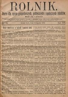 Rolnik, 1906, R. 13, nr45
