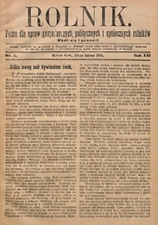Rolnik, 1914, R. 21, nr7