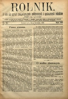 Rolnik, 1912, R. 19, nr15