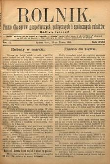 Rolnik, 1911, R. 18, nr11