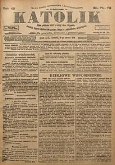 Katolik, 1916, R. 49, nr71/72