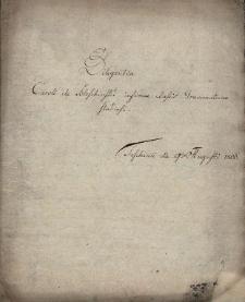 Materiały dotyczące działalności gimnazjum katolickiego (do 1773 r. - jezuickiego) w Cieszynie w 2 połowie 18 w. i na początku 19 w.