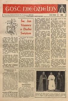 Gość Niedzielny, 1963, R. 36, nr22