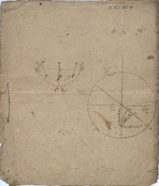 Rysunki geometryczne opisane w języku niemieckim i łacińskim
