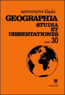 Geographia. Studia et Dissertationes 30