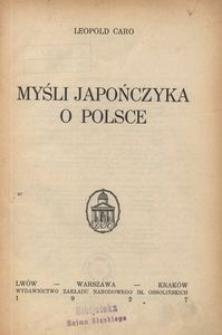 Myśli Japończyka o Polsce
