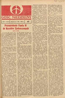 Gość Niedzielny, 1965, R. 38, nr45