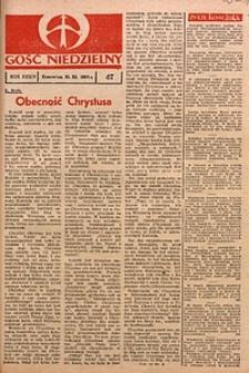 Gość Niedzielny, 1965, R. 34, nr47