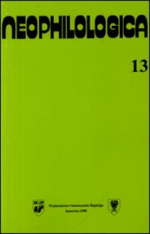Neophilologica. Vol. 13: Études de linguistique