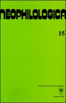 Neophilologica. Vol. 15: Études sémantico-syntaxiques des langues romanes