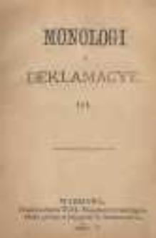 Monologi i deklamacye. III