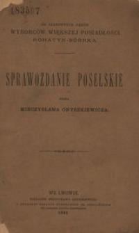 Sprawozdanie poselskie posła Mieczysława Onyszkiewicza