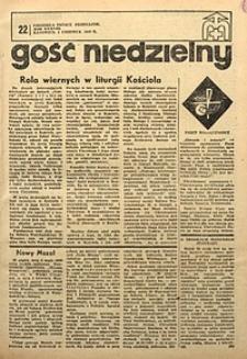 Gość Niedzielny, 1969, R. 42, nr22