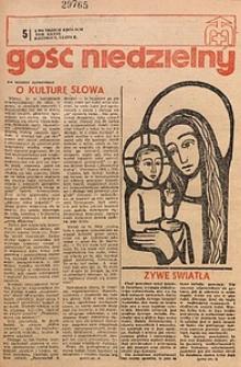 Gość Niedzielny, 1970, R. 43, nr5
