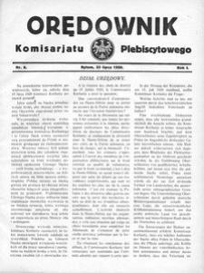 Orędownik Komisarjatu Plebiscytowego, 1920, R. 1, nr 8