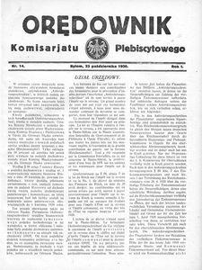 Orędownik Komisarjatu Plebiscytowego, 1920, R. 1, nr 14