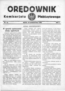 Orędownik Komisarjatu Plebiscytowego, 1920, R. 1, nr 15