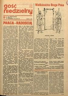 Gość Niedzielny, 1974, R. 47, nr17