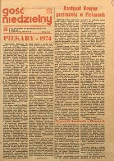 Gość Niedzielny, 1974, R. 51, nr26