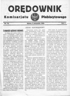 Orędownik Komisarjatu Plebiscytowego, 1920, R. 1, nr 16
