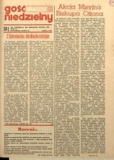 Gość Niedzielny, 1974, R. 47, nr31