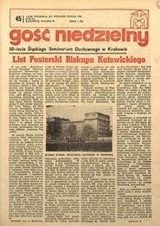Gość Niedzielny, 1974, R. 47, nr45