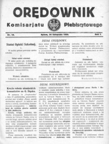 Orędownik Komisarjatu Plebiscytowego, 1920, R. 1, nr 18