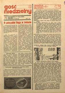 Gość Niedzielny, 1973, R.46, nr7