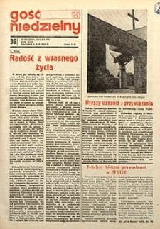 Gość Niedzielny, 1973, R.42, nr36