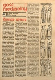 Gość Niedzielny, 1973, R.42, nr40