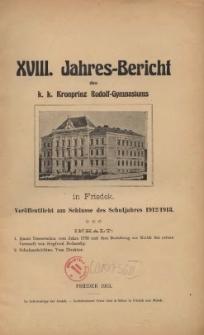 Jahres-Bericht des k. k. Kronprinz Rudolf-Gymnasiums in Friedek, 1913/1914