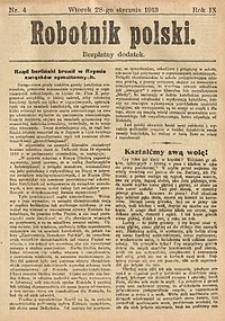Robotnik Polski, 1913, nr4