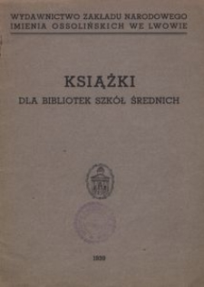 Książki dla bibliotek szkół średnich
