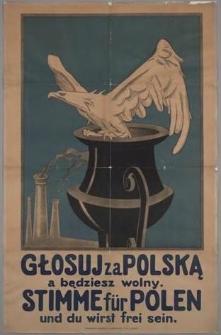 Głosuj za Polską a będziesz wolny. = Stimme für Polen und du wirst frei sein.